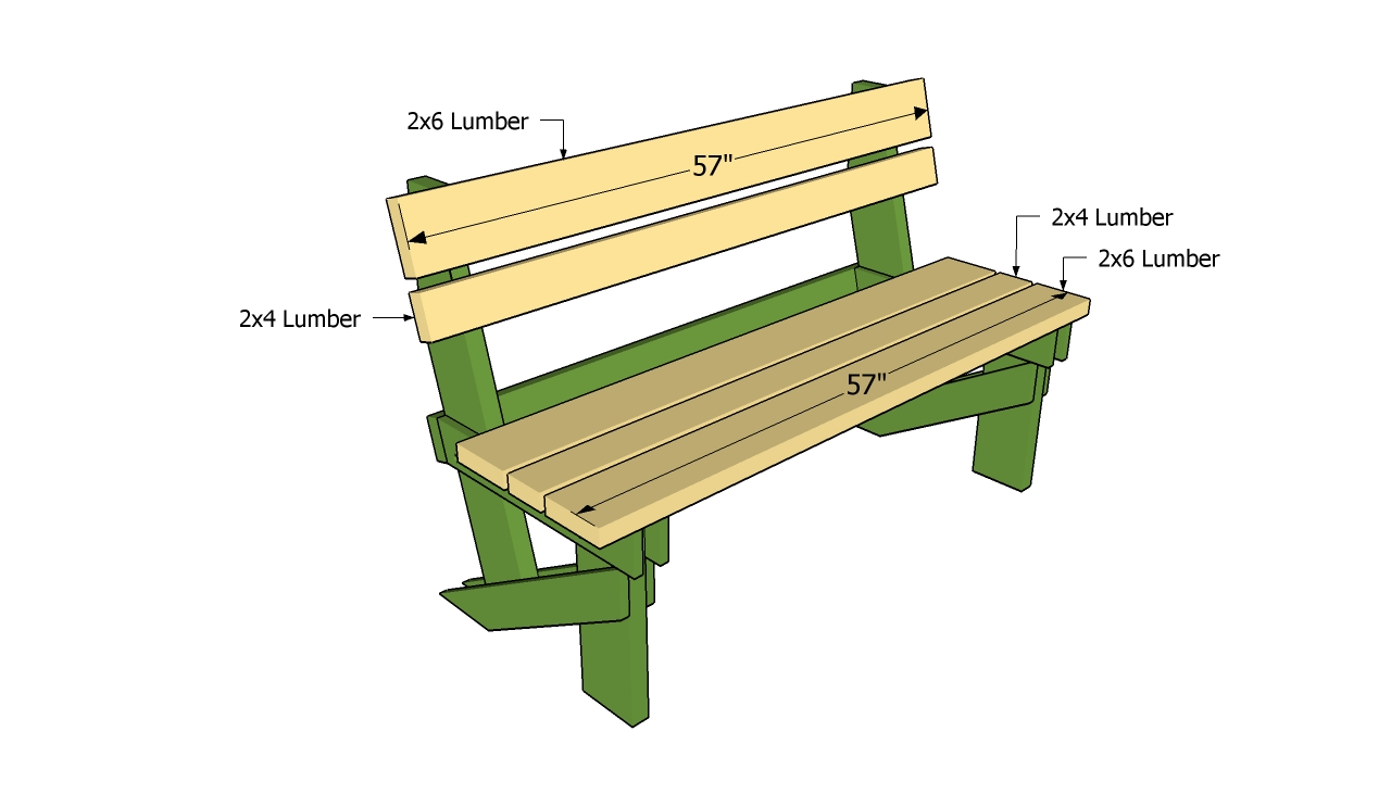 Simple Garden Bench Plans | Free Garden Plans - How to build garden ...