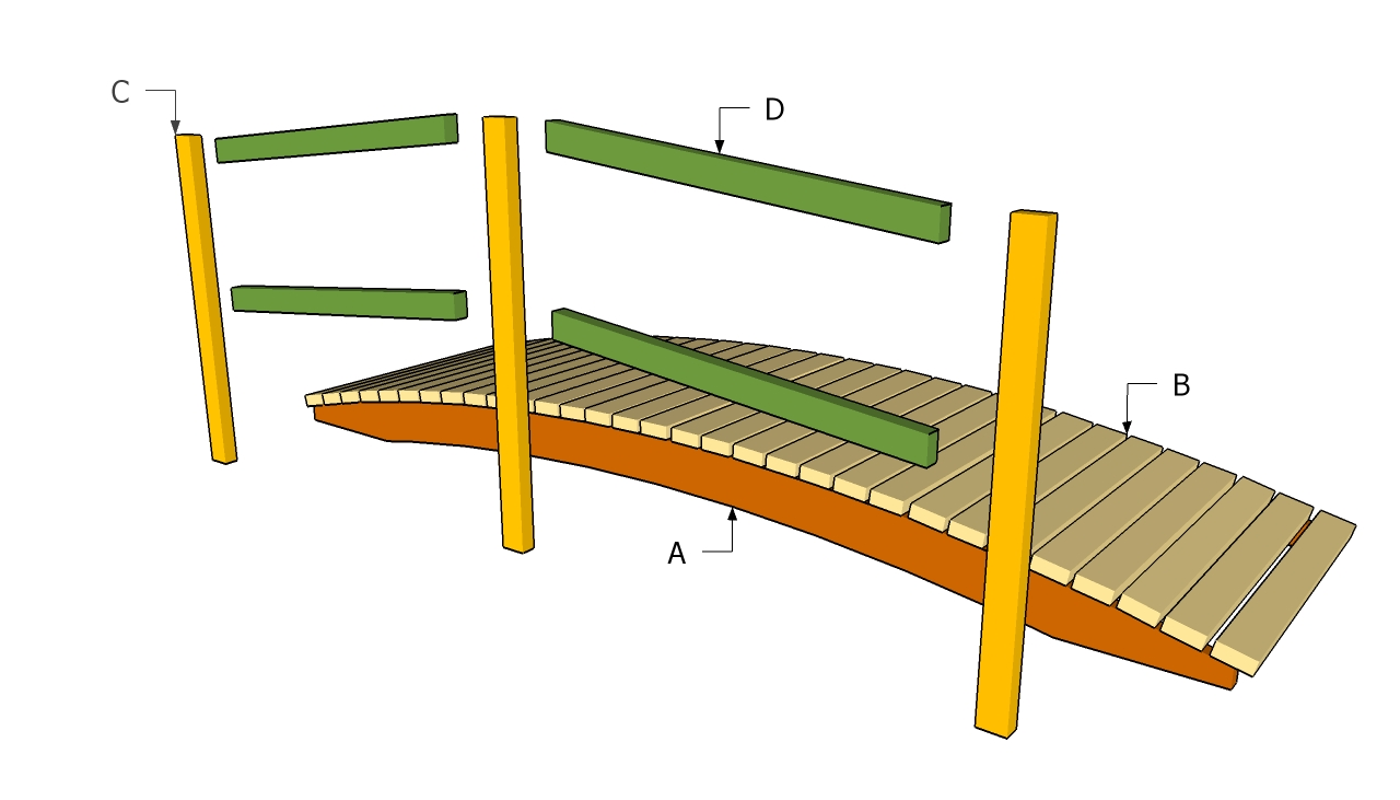 diy how to build wood bridge plans free