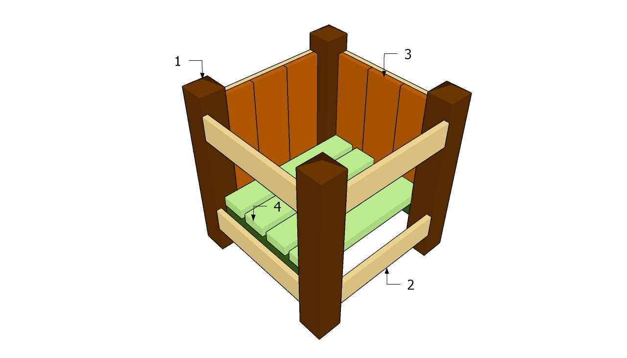 Plans for wooden planters pdf woodworking for Garden planter plans