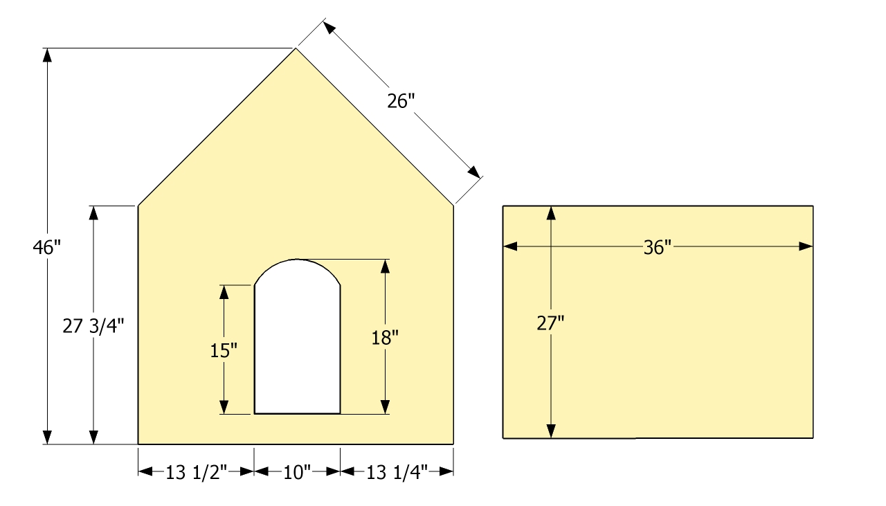 3 dog house plans for Simple home plans free