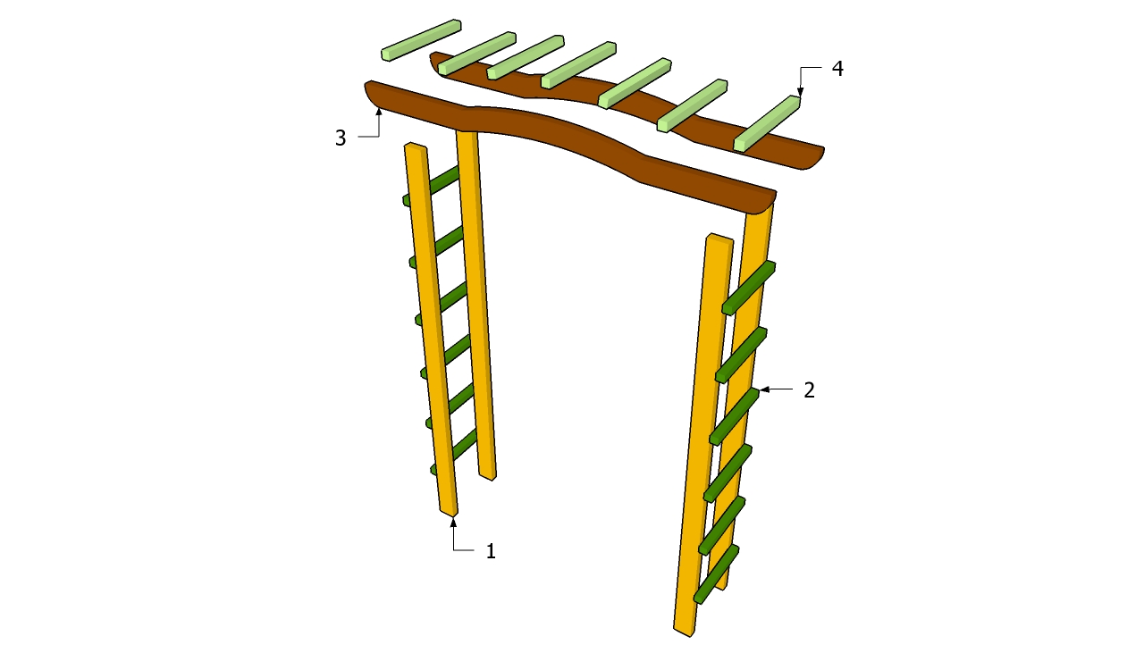 plans to build simple garden arbor plans pdf plans