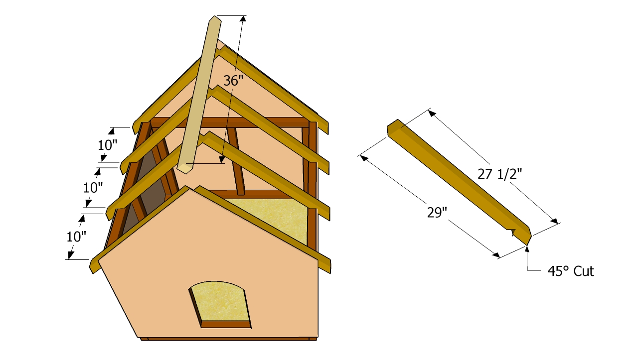 Installing the rafters free garden plans how to build for Build a house kits