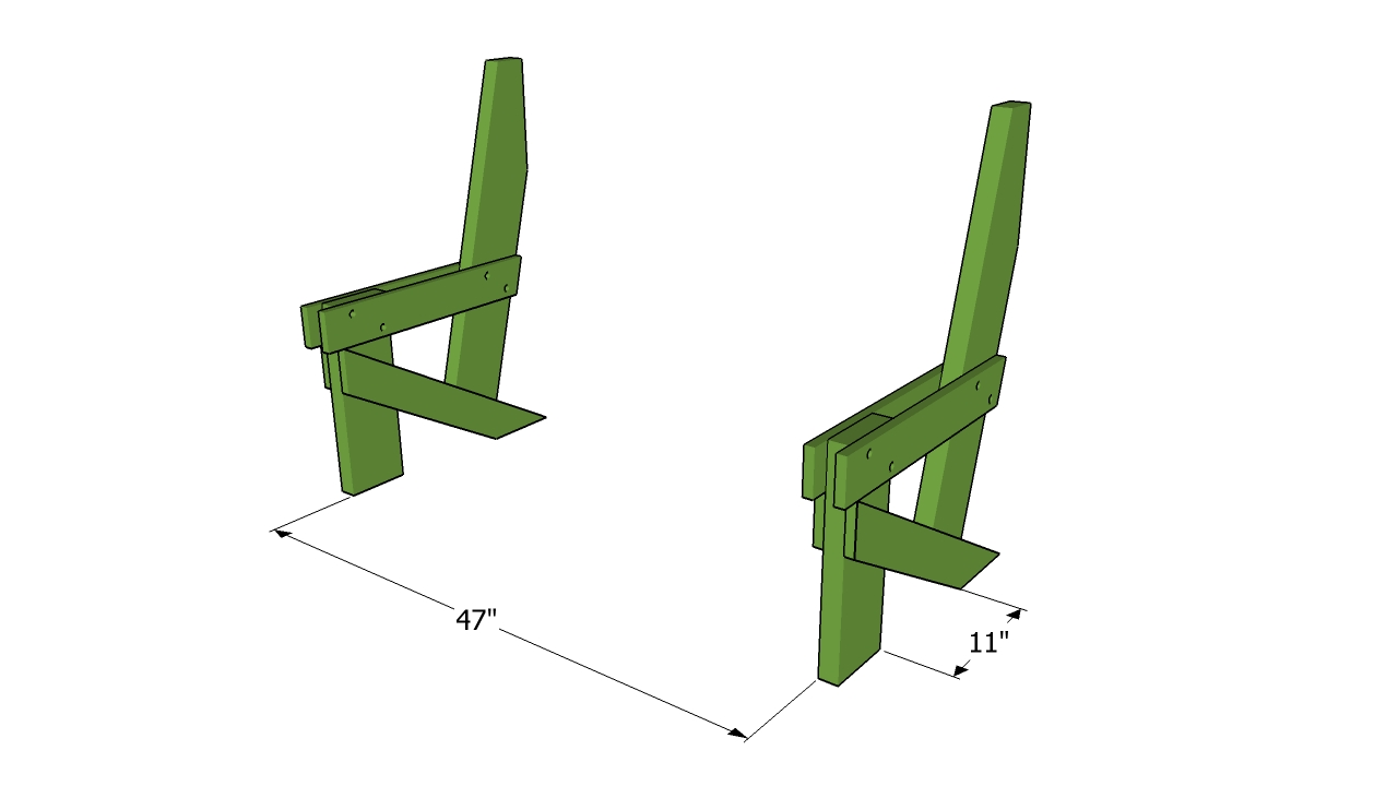 Simple bench frame
