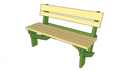 how to build a simple garden bench
