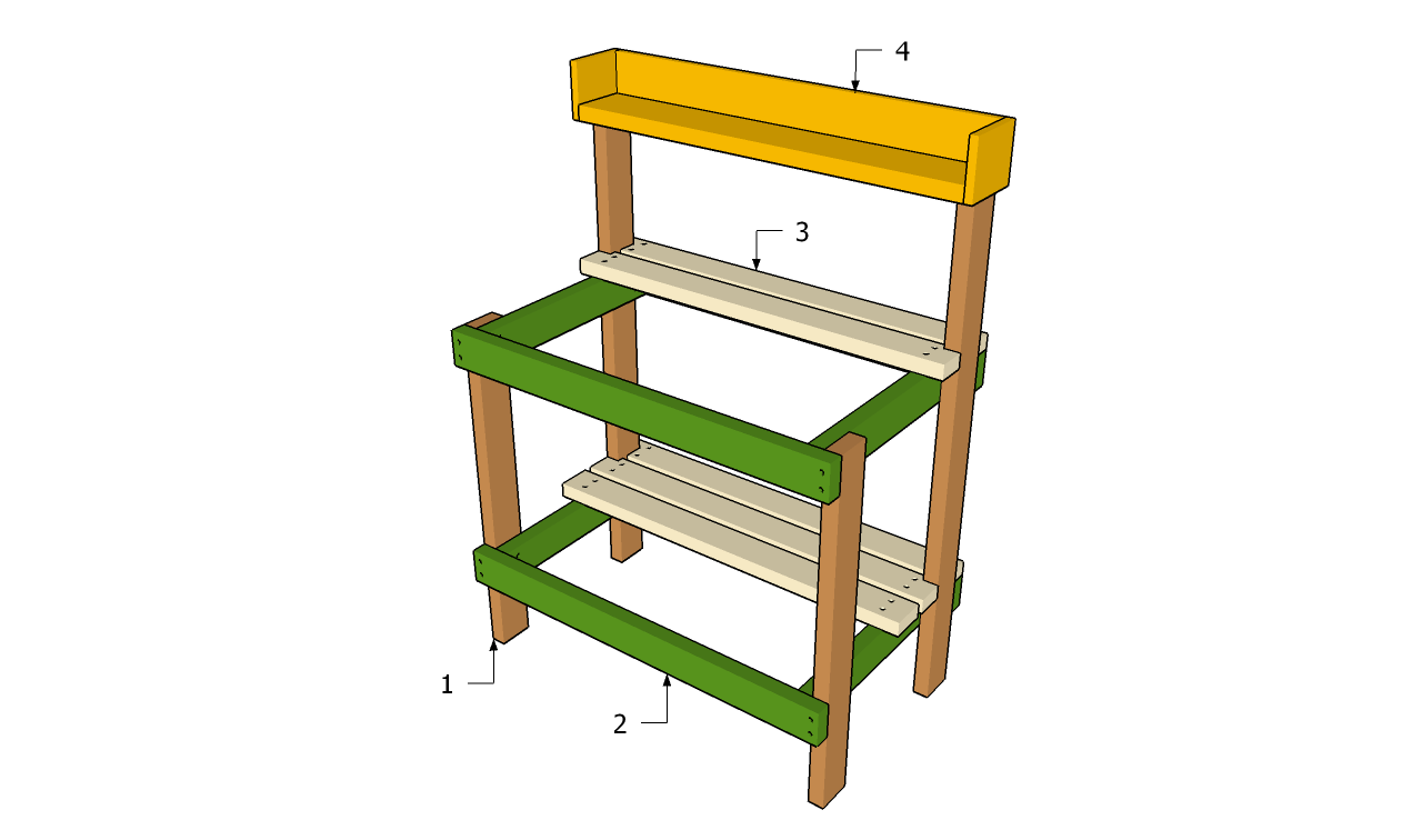 Free Potting Bench Plans Garden Shelves Plans Woodworking Bench Plans ...