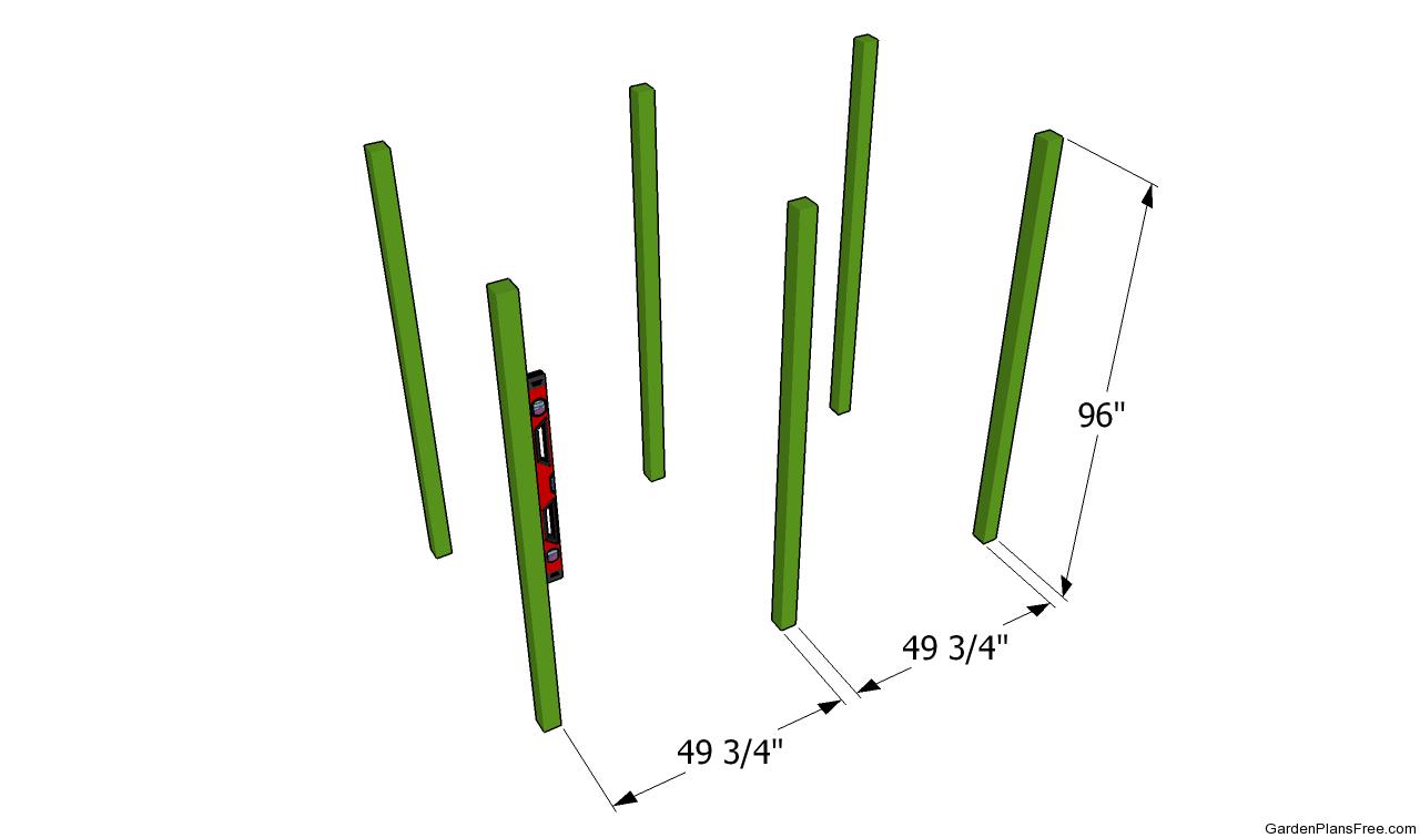 Grape arbor layout