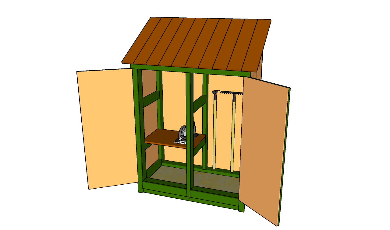 Garden tool shed plans free garden plans how to build for Outdoor tool shed