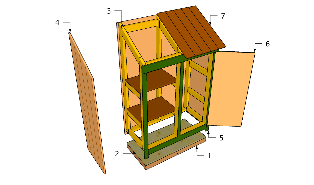 How to build a small garden tool shed quick woodworking for Outdoor tool shed