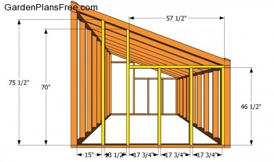 Lean To Shed Roof Design on l shaped house floor plans
