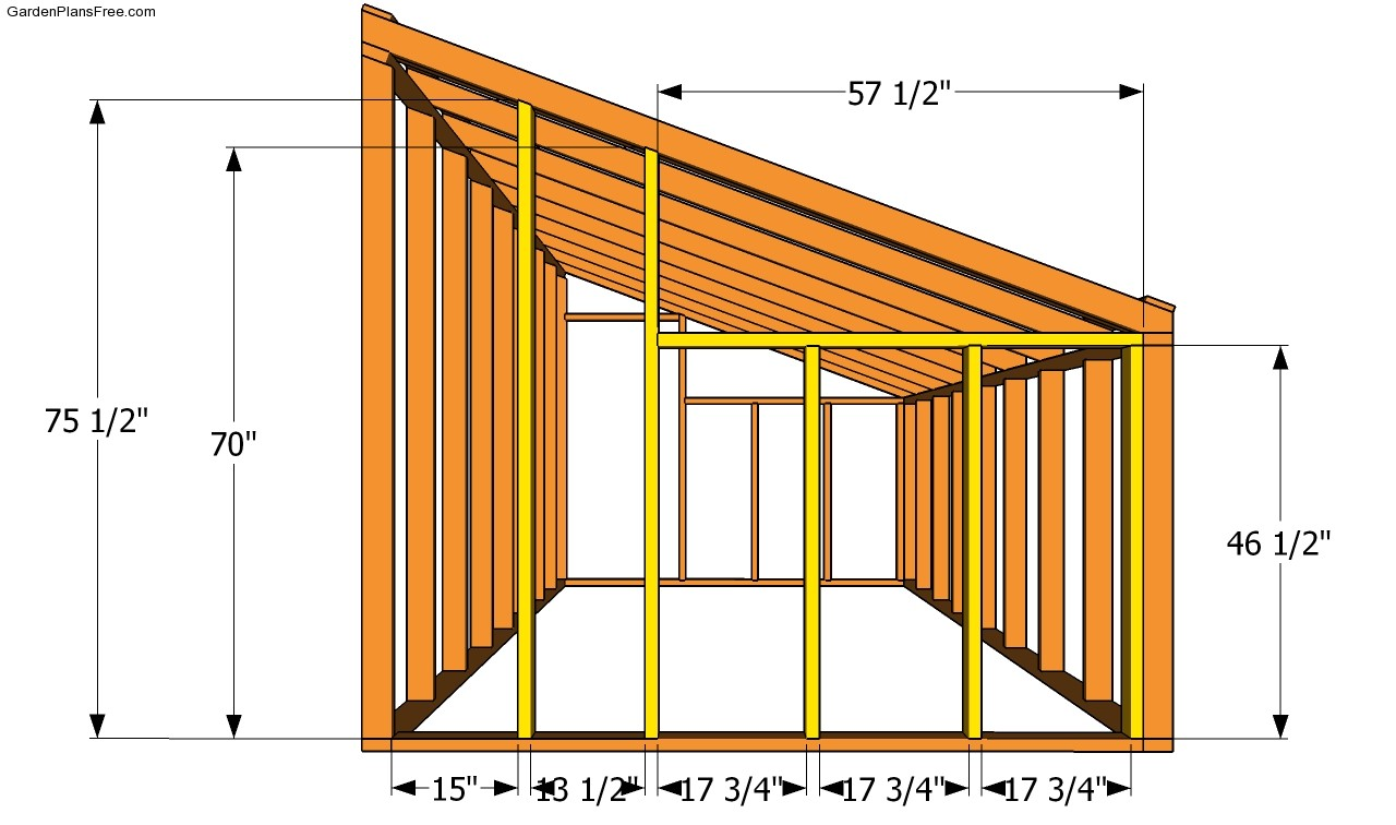 Lean to greenhouse plans free garden plans how to for Lean to house designs