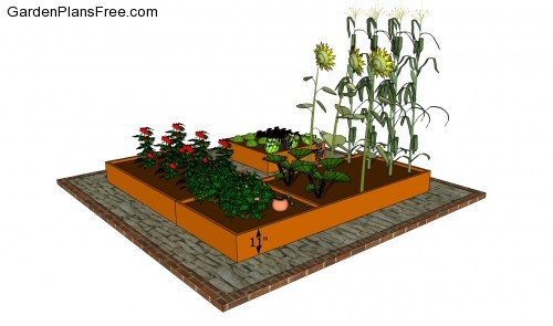 Raised Bed Vegetable Garden Designs a small raised bed vegetable garden plan Garden Design With Basic Woodworking Techniques Small Raised Bed Vegetable Garden With Front Yard Gardening