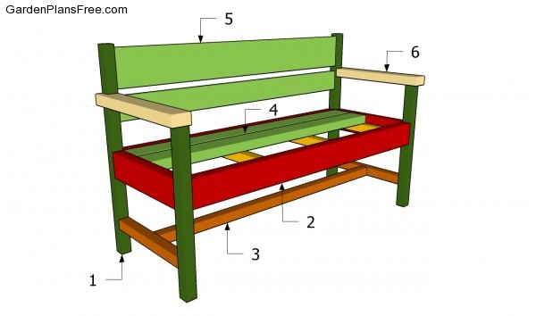 Garden Seat Plans | Free Garden Plans - How to build garden projects