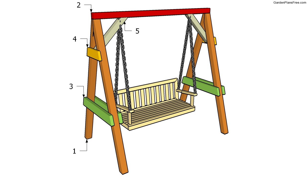 Garden swing plans free garden plans how to build for Outdoor swing frame plans