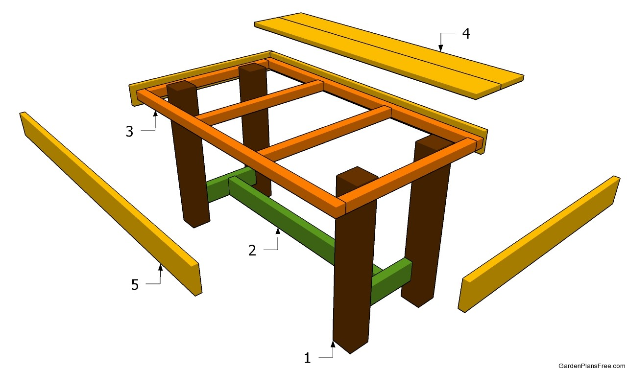 Patio Table Plans Free | Beginner Woodworking Project