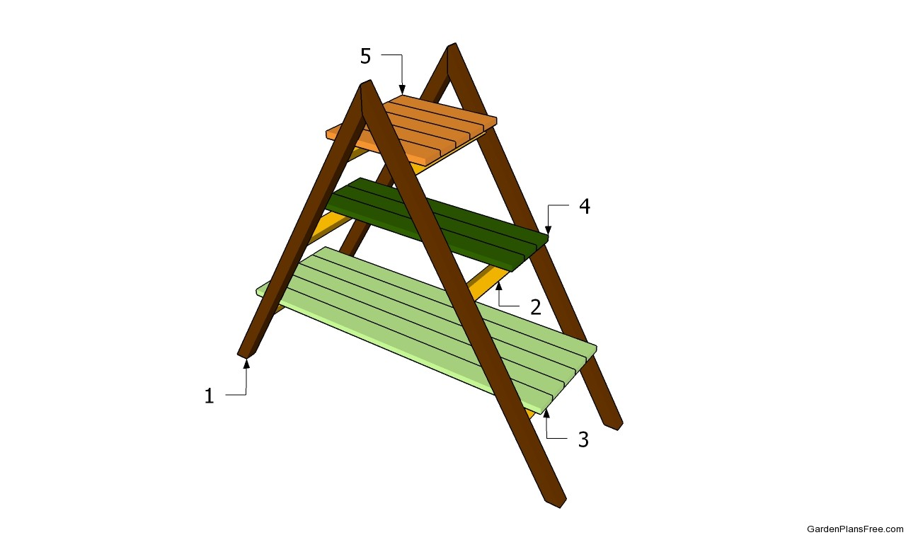 Wooden plant stands plans pdf woodworking - Ladder plant stand plans free ...