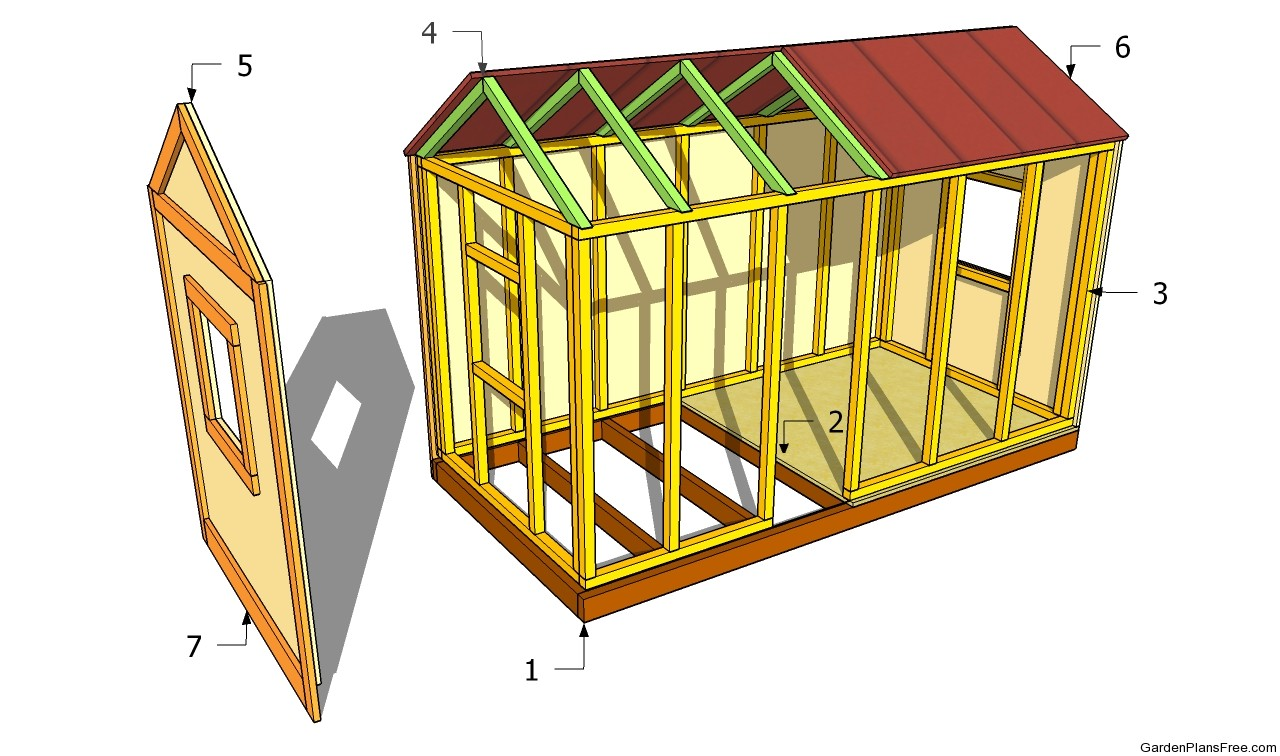 Pdf diy garden playhouse plan download hanging porch swing for Free playhouse plans