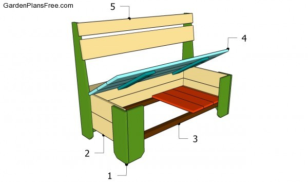 building plans a storage bench