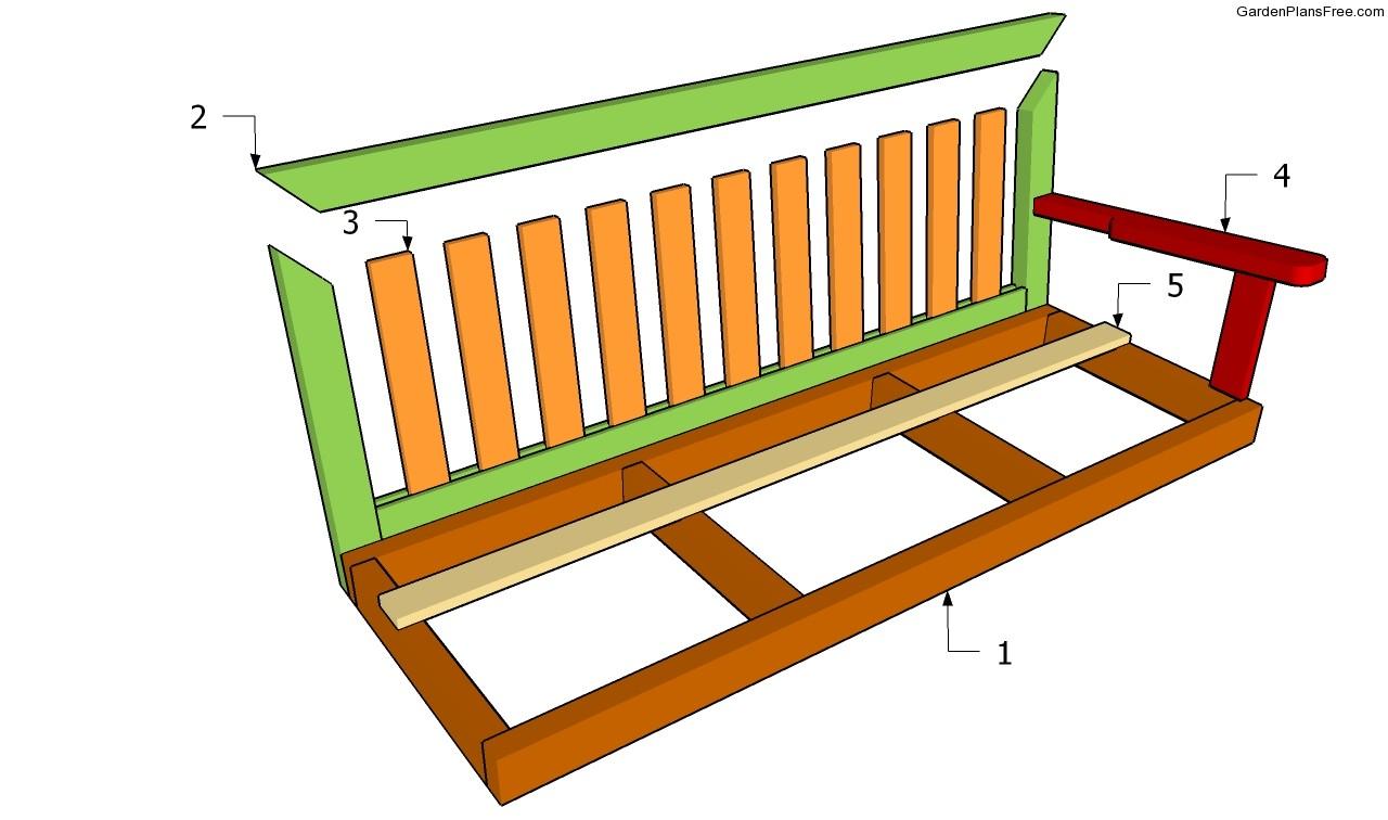 Wood Work Garden Swing Bench Plans PDF Plans
