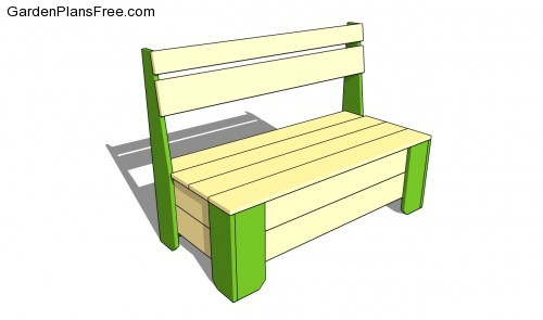 Garden Storage Bench Plans | Free Garden Plans - How to build garden ...