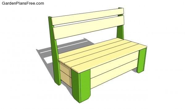 Garden storage bench plans