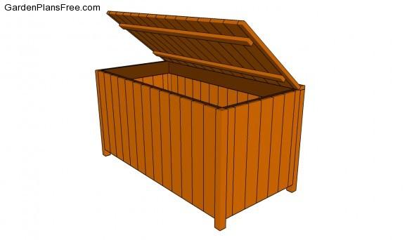 Garden storage box plans