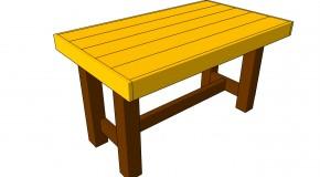 Garden Table Plans