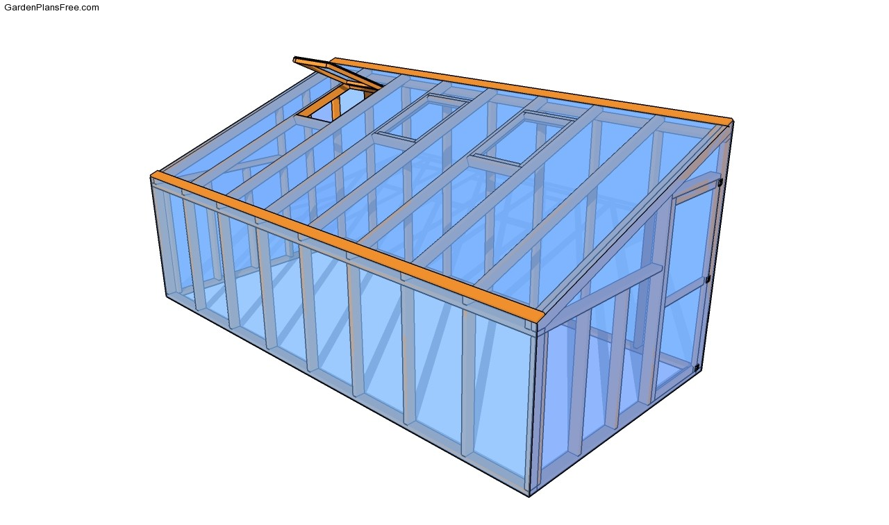 Lean to greenhouse plans free garden plans how to for Greenhouse design plans