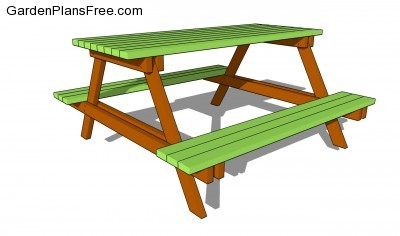 Picnic Table Plans Free | Free Garden Plans - How to build garden ...