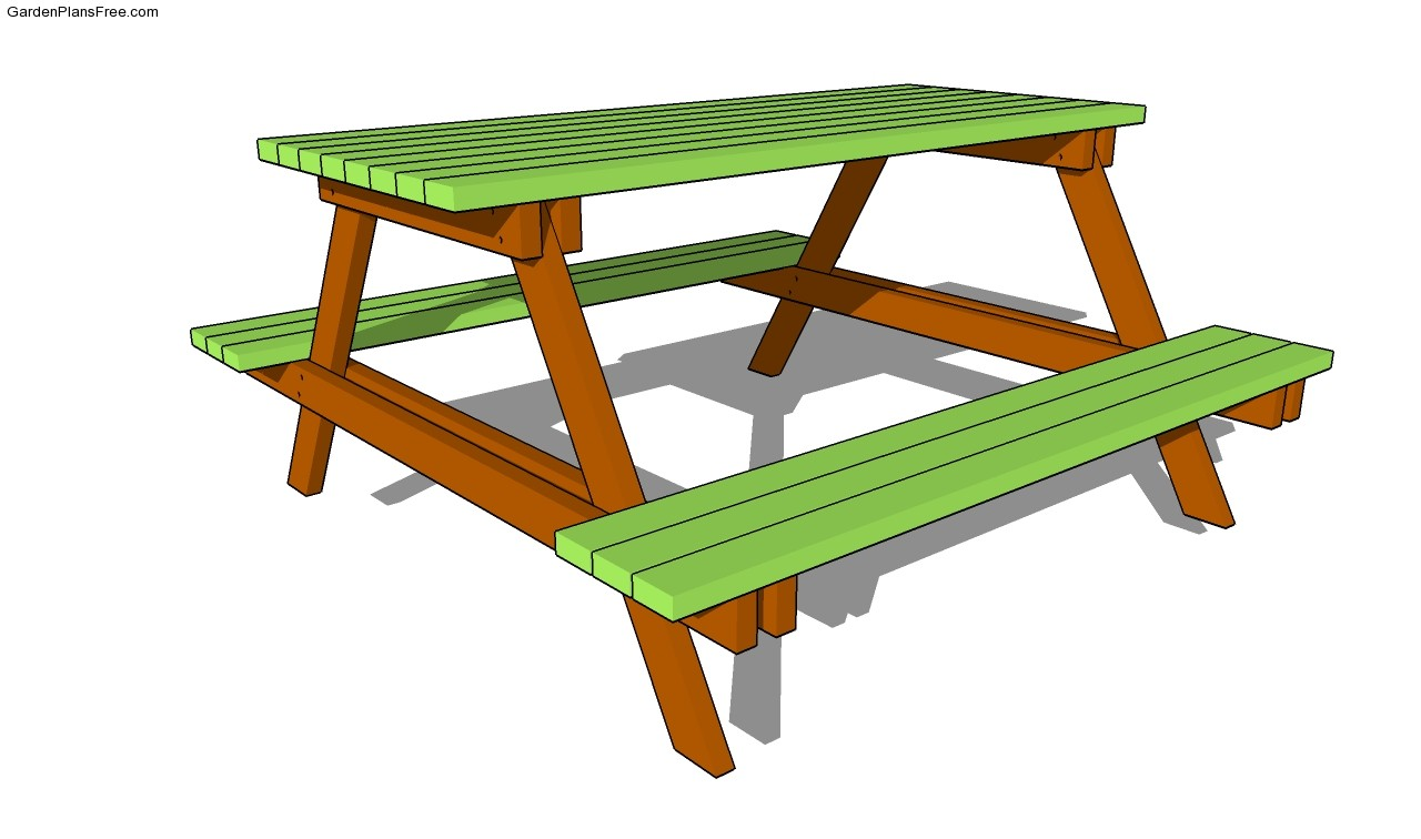 Picnic Table Plans Free Picnic Table Designs Picnic Table Plans Free ...