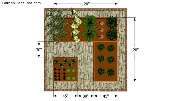 Small vegetable garden plans free garden plans how to for Vegetable layout