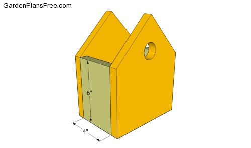 Assembling the birdhouse
