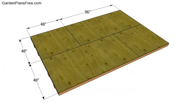 Attaching the plywood flooring