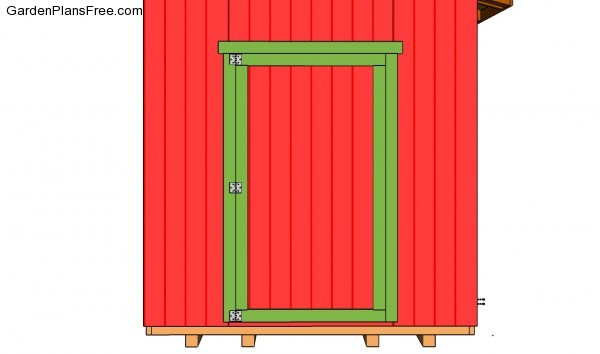 Attaching the shed door