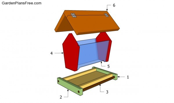 Chalet Bird Feeder Woodworking Plan Plans Diy Free Download