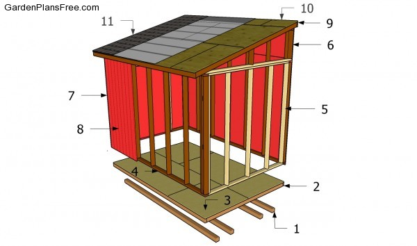 Lean to shed plans free free garden plans how to build for Lean to house plans