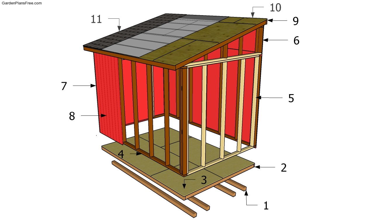 Sample large lean to shed plans tall storage in a small for Lean to style house plans
