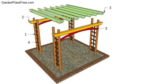 Pergola plans free free garden plans how to build for Simple gazebo plans