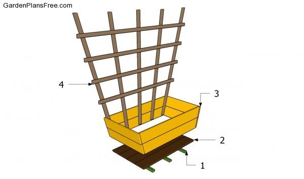 Building a trellis planter