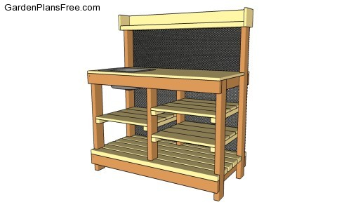 Potting Bench Plans With Sink | Free Garden Plans - How to build