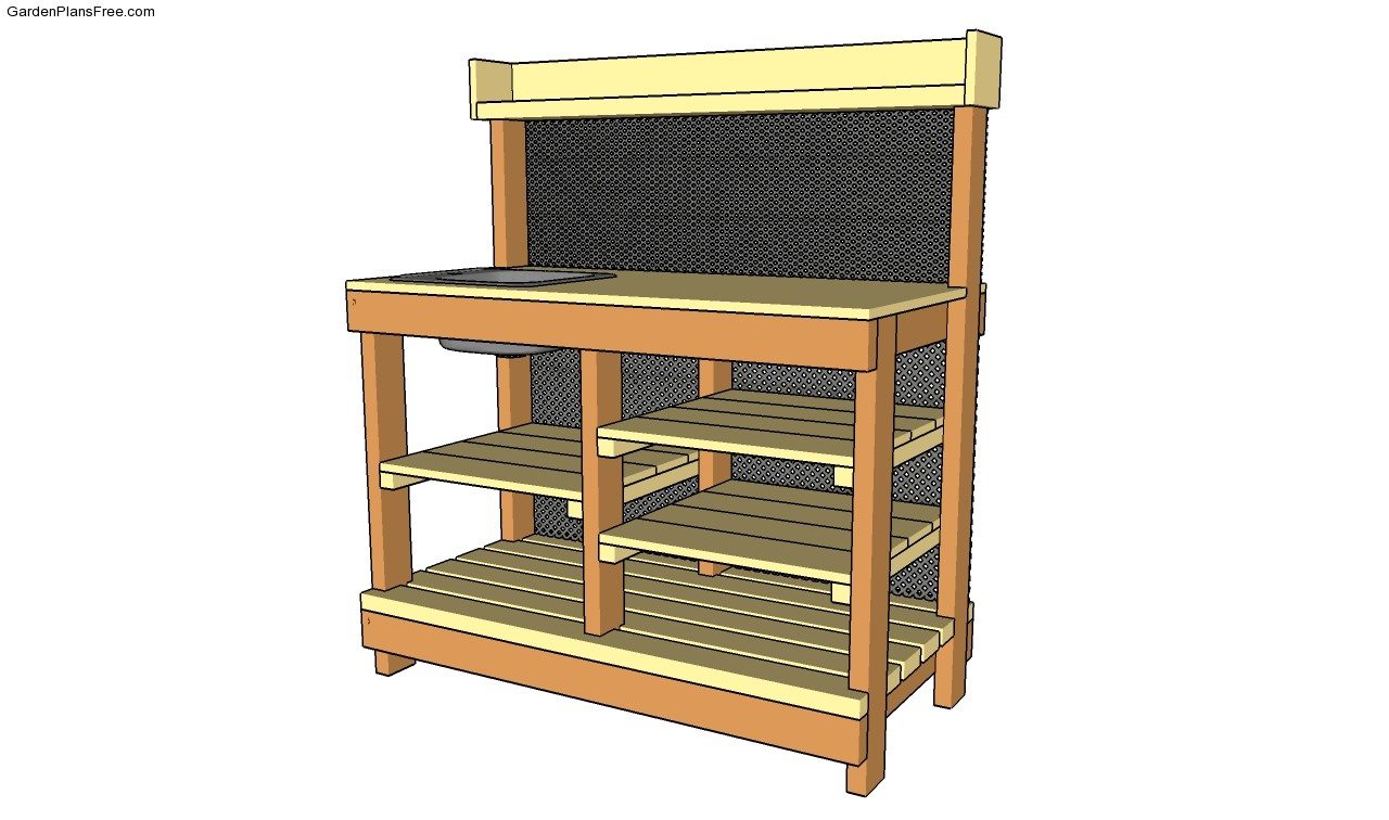 Potting Bench Plans With Sink Potting Bench Plans With Sink