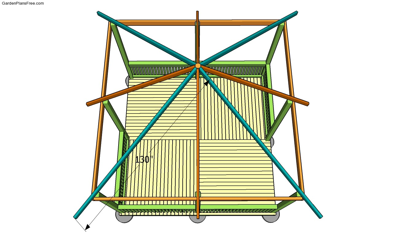 Carport plans free free garden plans how to build Gazebo roof pitch