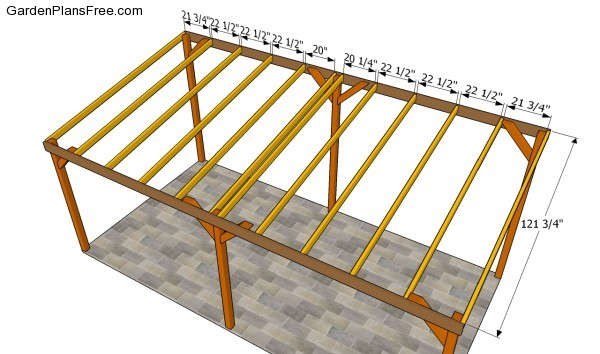 Free carport plans attached to house 16