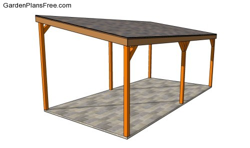 Free carport plans woodguides for Lean to house designs