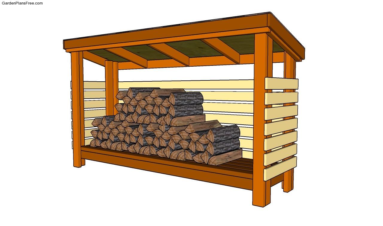 firewood storage shed plans diy woodworking