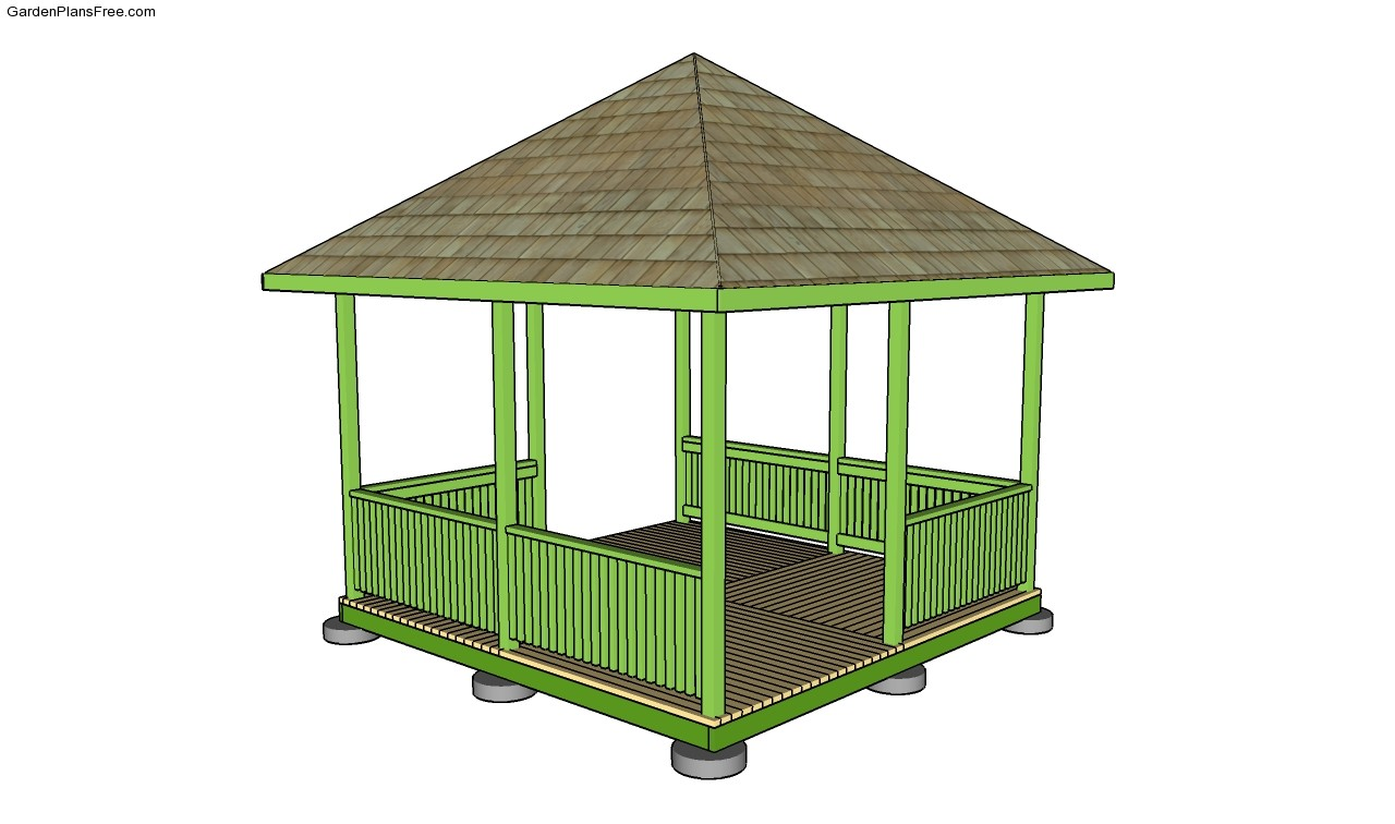 Garden gazebo plans for Free cupola blueprints