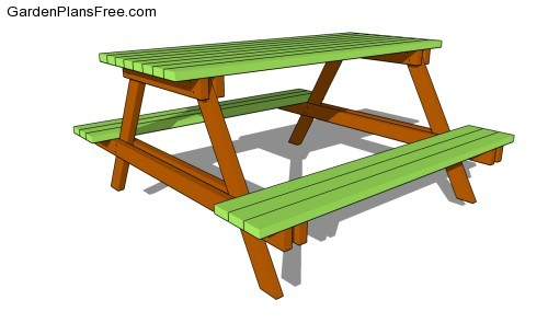 Woodworking garden bench table plans PDF Free Download