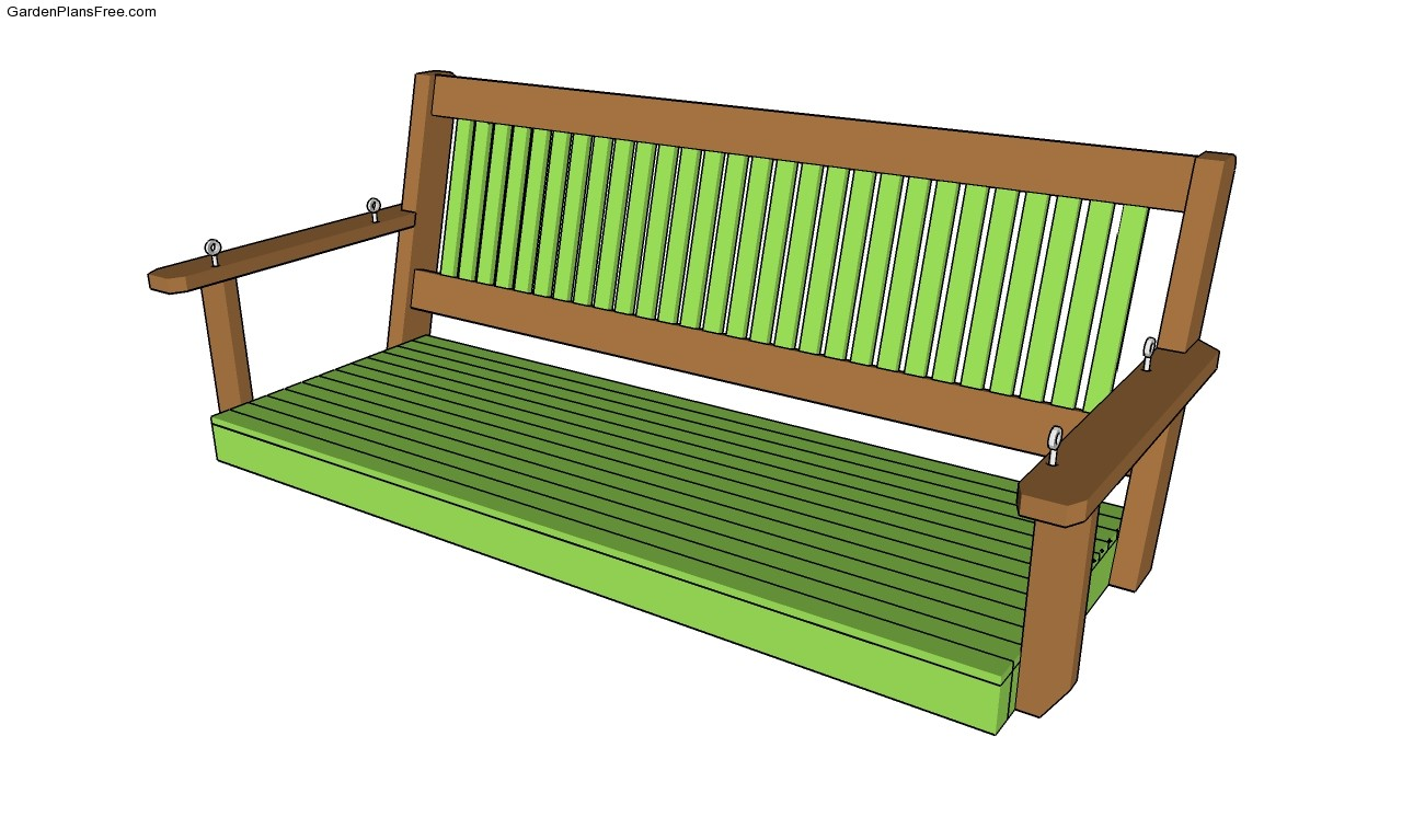 Porch bench plans free garden plans how to build for Patio swing plans free