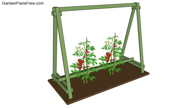 tomato trellis plans free garden plans how to build arched trellis woodworking plan from wood magazine
