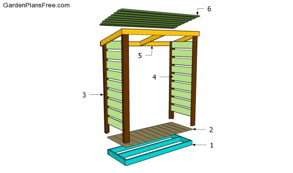 Buidling a wood shed