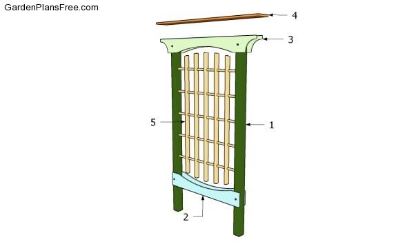 Building cucumber trellis